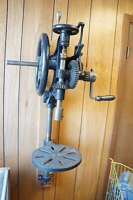 Antique Vintage Manual Hand Cranked Drill Press  Champion Blower & Forge Co.