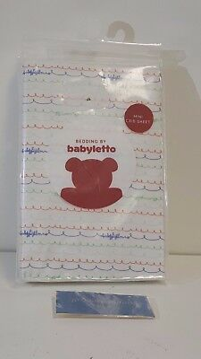 NEW! babyletto Alphabets Fitted Mini Crib Sheet - T8085 FREE SHIPPING