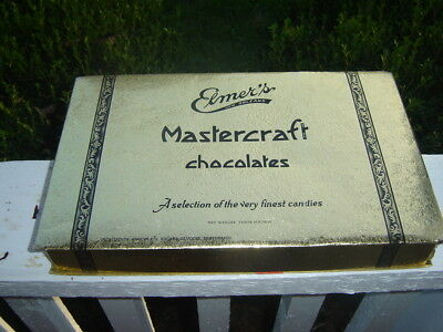 Vintage ELMER'S Mastercraft Chocolates Candy box New Orleans Louisiana