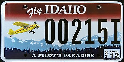 "IDAHO "" A PILOT`S PARADISE - AIRCRAFT PLANE AVIATION ID Specialty License Plate"
