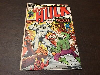 The Incredible Hulk 162 VF- 1st Appearance of the Wendigo!!!!
