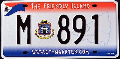 """ST. MAARTEN """" THE FRIENDLY ISLAND """" MINT Graphic License Plate"""