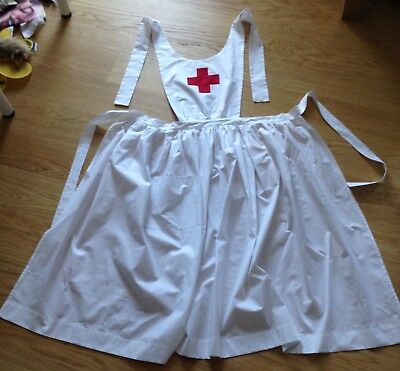 VAD Uniform Style Full Apron Nurse Handmade WW1 WWI Historical Costume