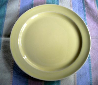 "Vintage TS&T Lu-Ray Pastels YELLOW 9"" Plate  ~"
