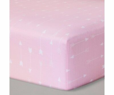 NEW Circo Baby Fitted Crib/Toddler Bed Sheet Pink Arrows Nursery Decor