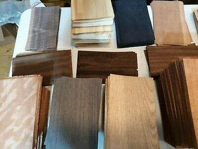 "Grab Box Special! 5"" x 8"" sheets of asst. wood veneer 60-65 total  IC49"