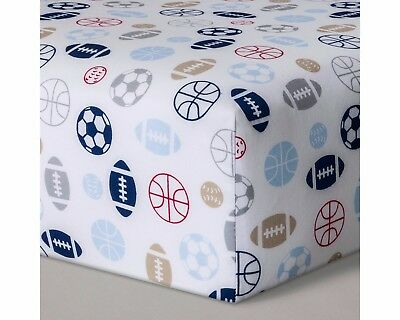 NEW Circo Baby Fitted Crib/Toddler Bed Sheet Sports Nursery Decor
