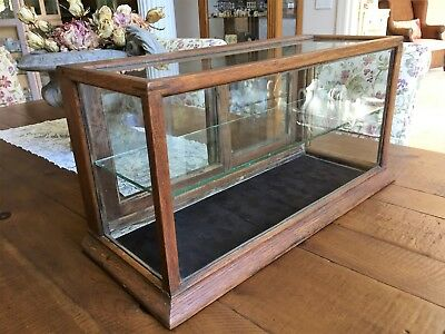 FAB Antique 1800s Oak SHOWCASE DISPLAY CASE Counter Top General Store Tobacco