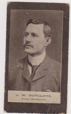 1901 SMITH'S CUP TIE BROWN BACK CARD No 60   J.W. SUTCLIFFE BOLTON WANDERERS