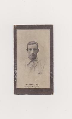 1901 SMITH'S CUP TIE BROWN BACK CARD No 43  A. SMITH   GLASGOW RANGERS