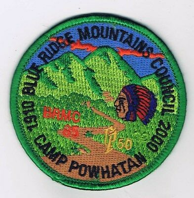 Camp Powhatan 1910-2000 Blue Ridge Mountains Council GRN Brd BLU/GRN Bkg 704670