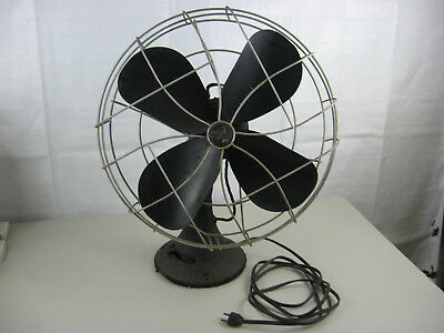 "Vintage Emerson Electric 79648 AP-G 16"" 3-Speed Oscillating Cast Iron Fan Works!"