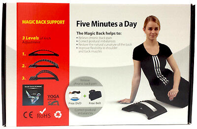 Magic Back Support Stretcher Lower Lumbar Massage Spine Pain Relief Chiropractic