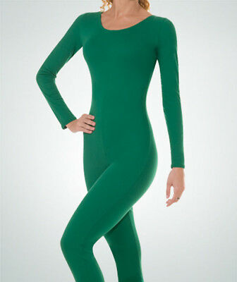 Body Wrappers MT117 Child INT (6x-7) Kelly Green Full Body Long Sleeve Unitard