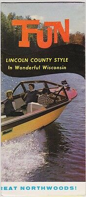 1960's Lincoln County Map & Promotional Brochure