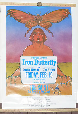 Iron Butterfly Richie Havens Fillmore East  Saint Club NYC 1988 Concert Poster