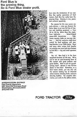 1971 Dealer Print Ad of Ford Blue 7000 Farm Tractor