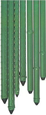 Sturdy Garden Tree Stake 2100mm x16mm Pk10 Green Landscaping Bamboo Look Plastic