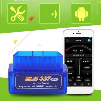 Mini ELM327 V2.1 OBD2 OBDII Bluetooth Adapter Auto Scanner Torque Android Top!!!