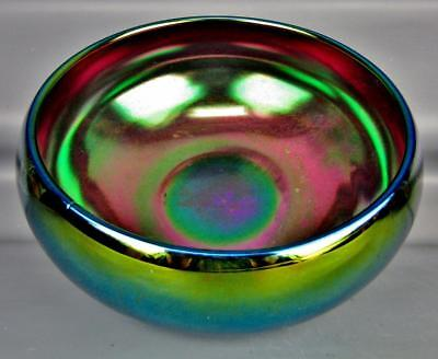 CARNIVAL GLASS - IMPERIAL LUSTRE IRIDESCENT Purple Glaze Bowl 4203