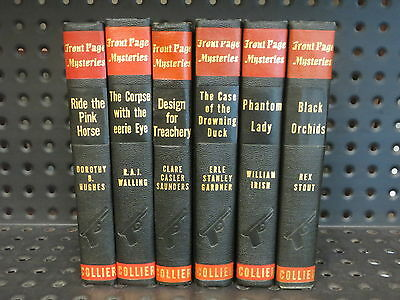 Stout Walling 6 FRONT PAGE MYSTERIES Hardcovers COLLIER  Black & Red  1940s