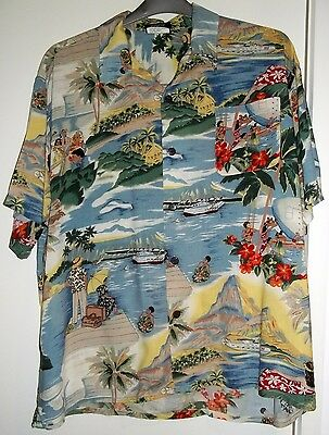 Amazing Cool Retro Oversized Hawaiian Party Shirt Wave Zone XL Hula Hula