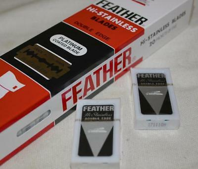 FEATHER Hi-Stainless SHAVING Double Edged Razor Blades RED CLOSEST SHAVE