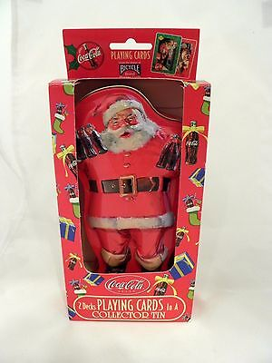 Coca Cola Collectors Tin 2 Sealed Decks Playing Cards Coke New Cond