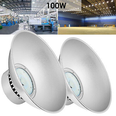 2X 100W LED High Bay Light Bright White Fixture Warehouse Factory Industry Lamp