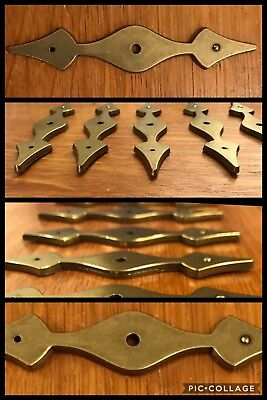 6 BACKPLATES for Knobs Antique Brass Tone Cabinet Ornate Gothic Amerock Vintage