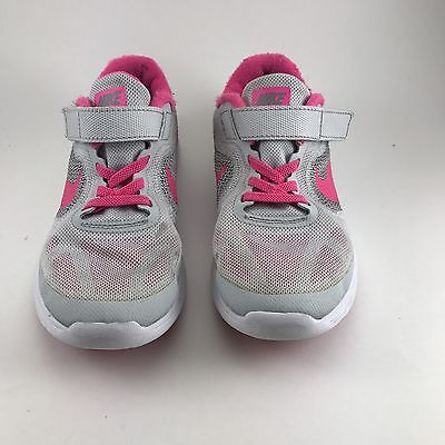 Youth Nike Pink & Gray Walking, Running Sneakers Size US1.5Y UK1