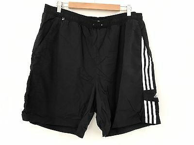 Mens ADIDAS  Sports Gym Shorts Size 2XL Black Fitness Swim