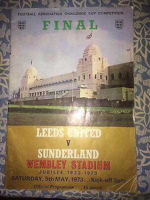 Signed 1973 F.A Cup Final Programme. Sunderland Signatures.