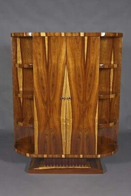 Exclusive Bookcase Wardrobe in the Art Deco Style in Rosewood