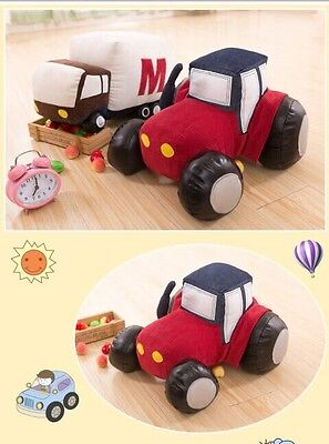 Kids Gift Toy Mini Red Tractor Plush Soft Stuffed Toys For Kid Dolls 40cm
