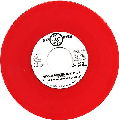 NEVER LEARNED TO DANCE Harvey Averne *RED VINYL LIMITED EDITION*