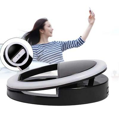 Black Selfie LED Ring Flash Light Camera Photography For IPhone Mobile Phone FC