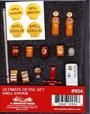 SHELL SERVICE STATION ITEMS for Model Trains HO, Ultimate detail Set
