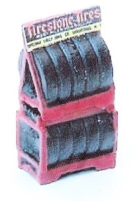 Tyre rack with tyres - Model Train accessories - HO