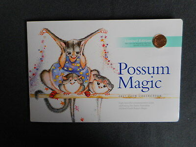 possum magic set of 4x $1coins  1x1 cent unc in card