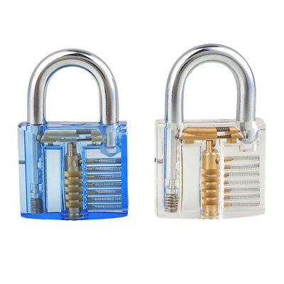 Transparent Professional Lock Pick Padlock Training Skill Kit Durable Extractor