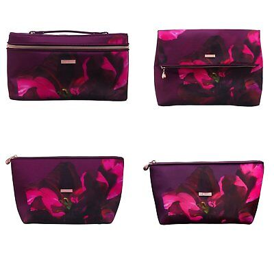 Ted Baker Designer Cosmetic Makeup Bag Vanity Travel Case Foldover Washbag BNWT