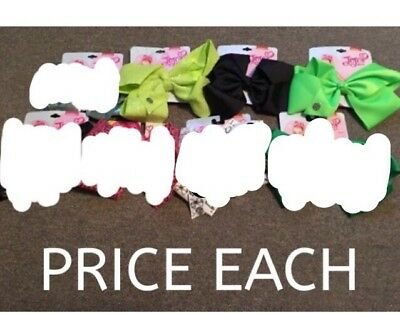 PRICE IS EACH NOT ALL! JoJo Siwa Lg Hair Bow Stars Metallic Sequin Girl Scout