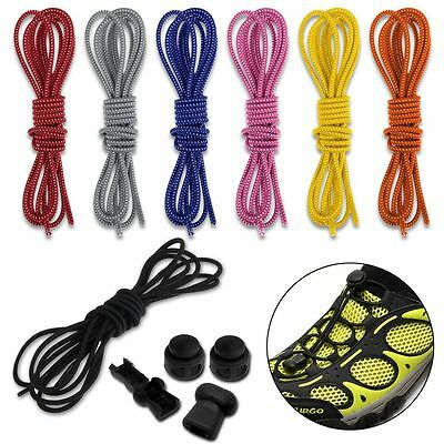 No Tie Elastic Shoelaces With Lock Sport Running Jogging Shoes Lace Replacements
