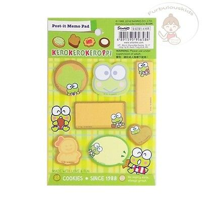 Sanrio Kerokerokeroppi Sticky Notes Set 7 Different Designs 20 X 7 = 140 Sheets