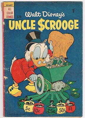 Australian Walt Disney's Uncle Scrooge Comic G.45 - Good - 1956