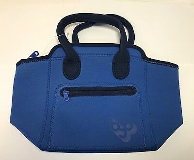 BYO by Built NY Adela Neoprene Lunch Bag, (Blue) NEW MODEL Design. Free Delivery