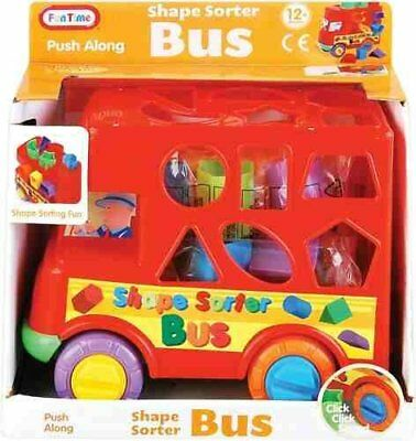 Baby Push Along Shape sorter Bus - Shape Sorting Fun! 12 Months +