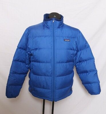Patagonia Kid's Down Jacket Blue 68303 Youth Size XL 14 Blue Good Used Condition