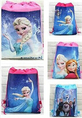 Disney Frozen Princess Environmental Drawstring Bag Swimming PE Toyes Clothe